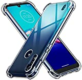 ivoler Funda para Motorola Moto E6s 2020 / Moto E6i, Carcasa Protectora Antigolpes Transparente con Cojín Esquina Parachoques, Flexible Suave TPU Silicona Caso Delgada Anti-Choques Case Cover