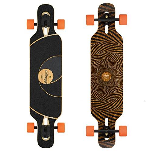 Loaded Boards Tan Tien Bamboo Longboard Skateboard Complete (80a Stimulus, Flex 2)