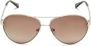 GUESS Women's Catherine Rhinestone Aviator Sunglasses