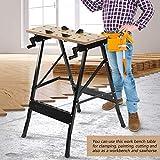 Heavy Duty Folding Workbench, Foldable Trestle Work Bench/Sawhorse, 220lbs Capacity zhaoyun