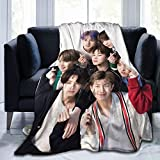 BTS Bulletproof Youth League Keeps Warm All Season, Embraces Super Soft and Lightweight Sofa, Office Camping Blanket60 X50