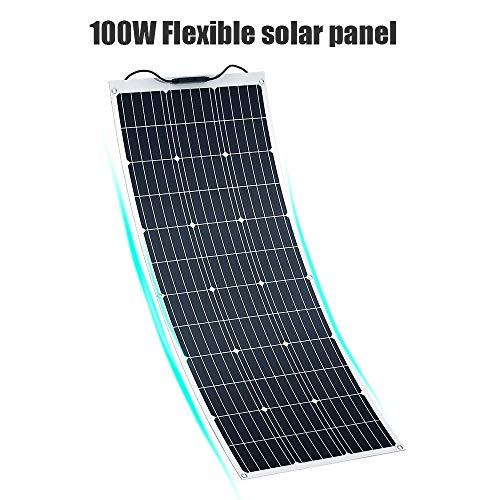 SOLKA Impermeabile 12V 18V Semi-Flessibile Solar Battery Charging Board 100W Caricatore del Pannello Solare con connettore MC4