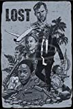 LOST Cartel de chapa vintage, cartel de cartel de metal, placa de pintura de hierro retro,...
