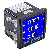 Amperometro, misuratore di corrente digitale trifase multifunzionale Voltmetro Amperometro...