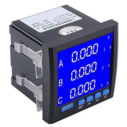 Corriente de Voltaje Multifunción Digital Trifásica, Amperímetro Voltímetro de Medidor Inteligente