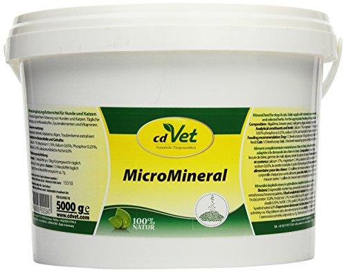 cdVet Naturprodukte MicroMineral Hund & Katze 5 kg - naturbelassene Mikronährstoffversorgung - Entlastung Entgiftungsorgane - Mineralstoffhaushalt -  Stoffwechsel - Fell - Vitaminabsicherung -