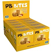 PASOKIN | Natural Peanut Butter Crunchy and Creamy Bites | Gluten Free, Vegan, Protein Snack | Pacoca Made in USA, 0.5 oz bites [20 count]