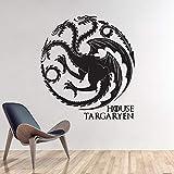 JIAYOUHUO Pegatinas de Pared decoración del hogar Tatuajes de Pared Animal Dragon patrón Tatuajes de Pared Trono Juego Tatuajes de Pared Animales