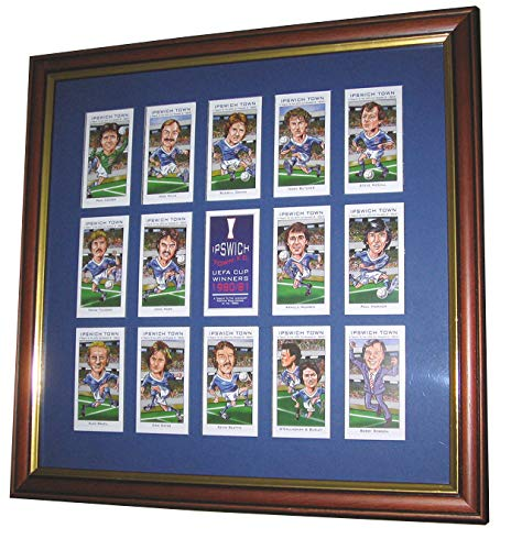 PHILIP NEILL GRAPHICS IPSWICH TOWN UEFA CUP WINNERS FRAMED CARD SET