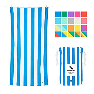 Dock & Bay Lightweight Beach Towel for Travel - Extra Large XL 78x35, Large 63x31 - Swim, Pool, Yoga, Travelling