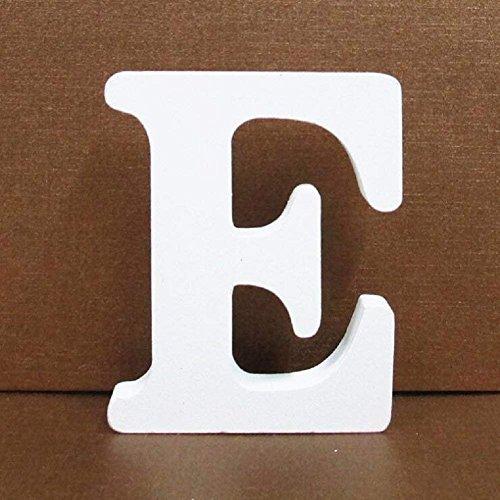 Gspirit Decorativo De Madera Letras, Pared Letras 26 Letras Madera Alfabeto para Niños Bebé Nombre Cumpleaños Fiesta Boda Casa Decoración (E)