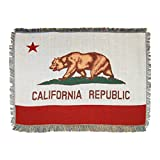 The Northwest Company California State Flag Woven Tapestry Throw Blanket, 48' x 60', Multi Color