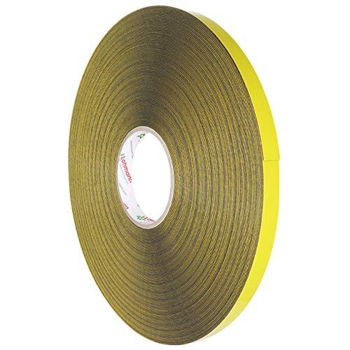 Lohmann Duplocoll 9182 | Spiegelklebeband doppelseitig | Schwarz | Extra stark haftend / 19 mm