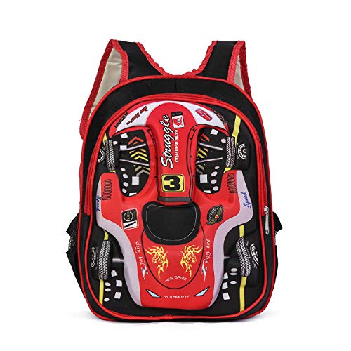 Tinytot Boys School Bag School Backpack for Small Kids Nursery Bag (Age 3-5 Years) for Boys (RED)