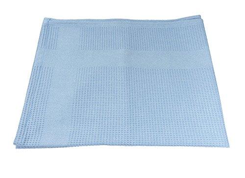 GBPro blau extra groß Trockenschliff Mikrofaser Reinigungstuch (70x 50cm) fusselfrei für Glas, glatte Oberfläche