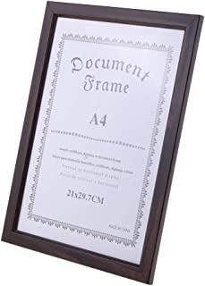 Baosity A4 Delicate Wooden Display Frame –Used for Diploma, Certificate, Photo, Artwork, Picture, Documents, Poster Frame ...