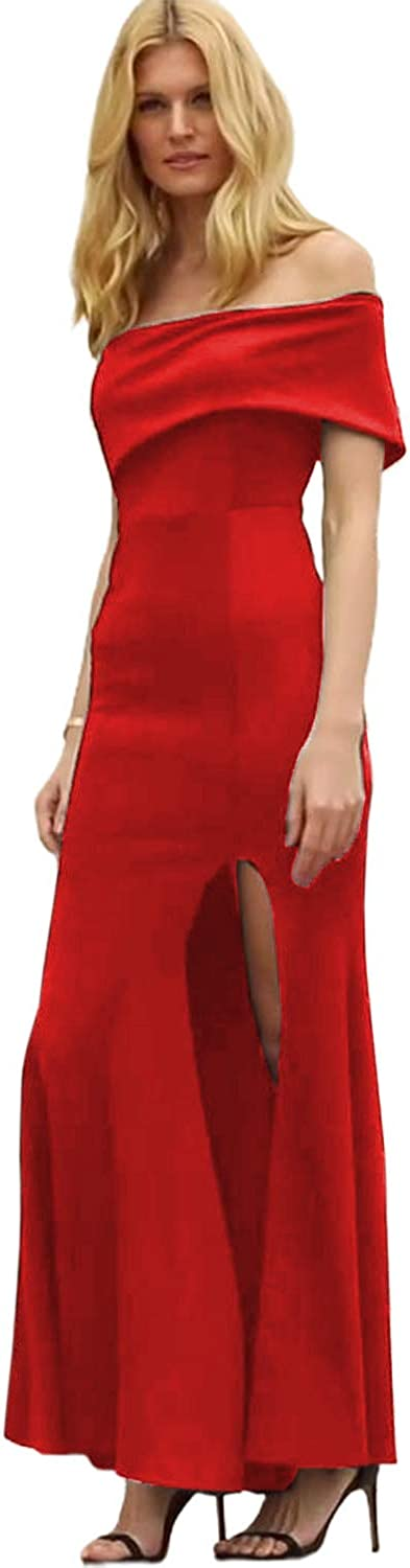 DESIGNER97 Women's Sexy One Inexpensive Many popular brands Shoulder Mermaid Maxi Wedding Party