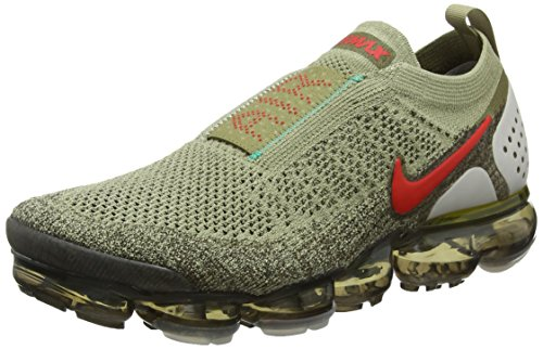 Nike Air Vapormax FK Moc 2, Scarpe da Running Unisex-Adulto, Verde (Neutral Olive/Habanero Red/Dark Hazel 200), 38.5 EU