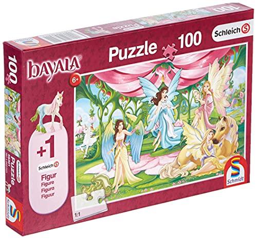 Schmidt Spiele- Schleich Bayala - Puzzle Infantil (100 Piezas), diseño de Pollos de Plumas, Color carbón, 36,1 x 24,3 cm (56301)