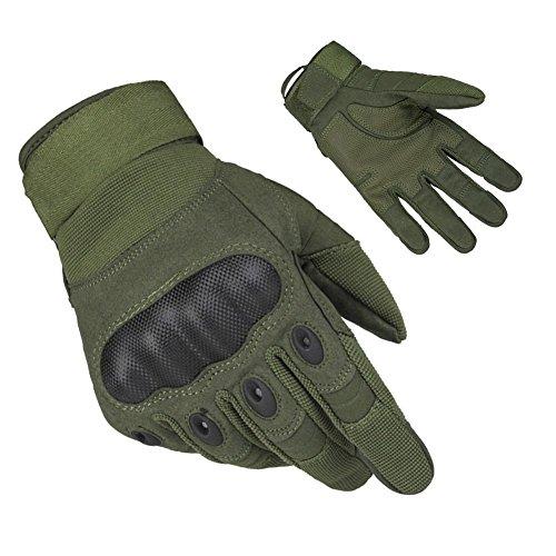 Limirror Herren Taktische Handschuhe Handschuhe Fahrradhandschuhe Motorrad Handschuhe outdoor sport Handschuhe Fitness Handschuhe Army Gloves Ideal für Airsoft, Militär, Paintball, Airsoft, Jag (Grün, L)