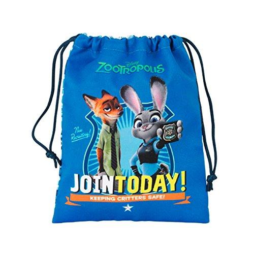 Disney - Mochila Deportiva con cordón de Zootropolis para niños (Talla Única/Azul)