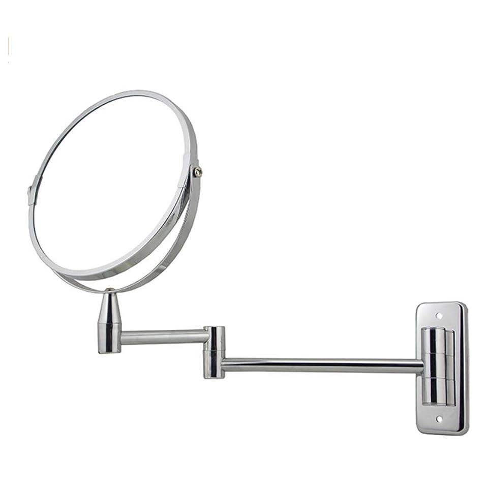 汗アウターどんよりした壁掛け両面化粧鏡両面360°回転化粧鏡2倍拡大鏡+通常の平面鏡化粧鏡