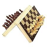 HJUIK Juego de ajedrez plegable magnético tablero de ajedrez juego extra 2 reinas portátil juego familiar juguetes 24/29/34/39 cm juego de ajedrez (color: 24 cm)