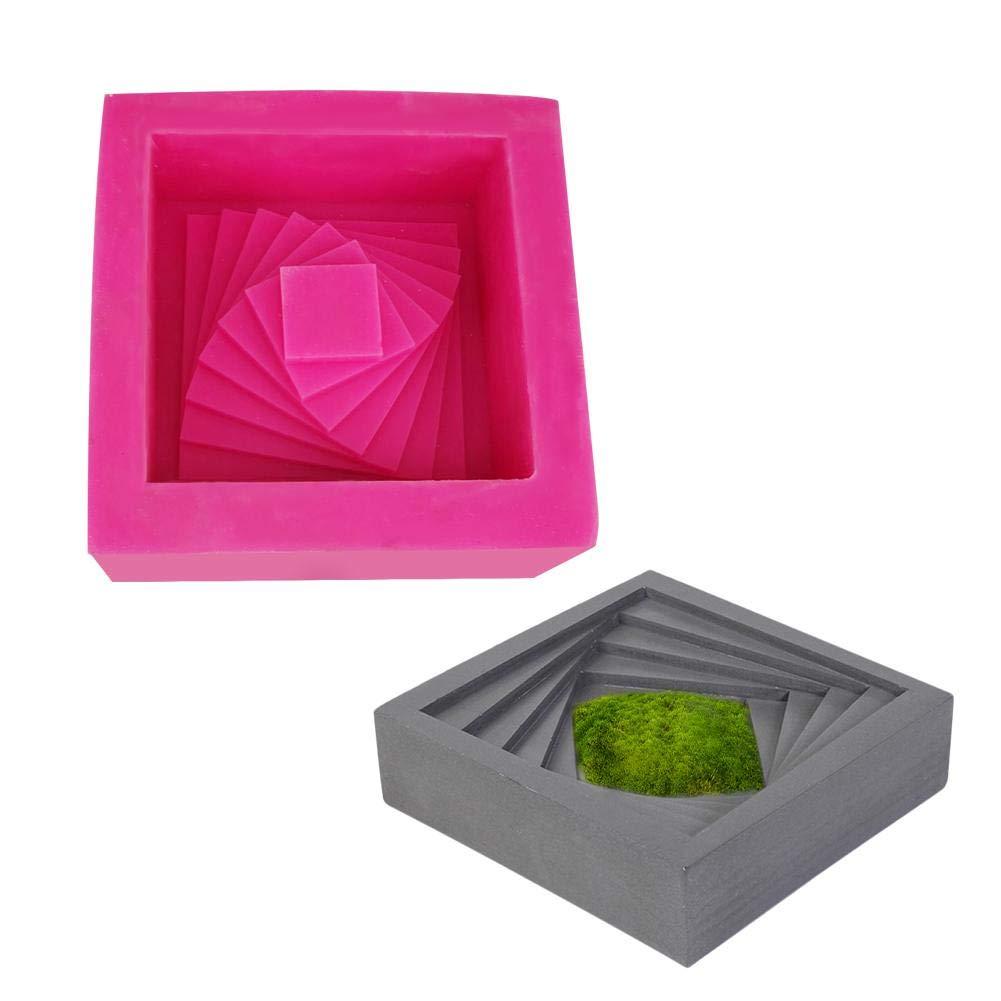 Diy suculento cemento maceta moldes caja de almacenamiento del molde decoración del hogar maceta de hormigón plataforma de silicona molde: Amazon.es: Bricolaje y herramientas