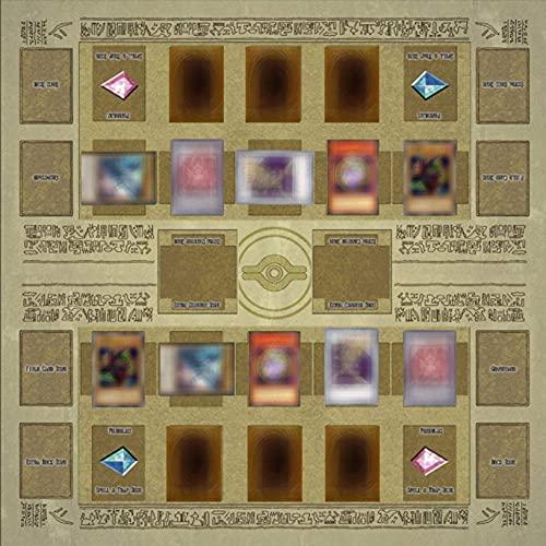Yugioh Ruidada 2021 Spezial Yu-Gi-Oh Kartenspiel Matte Set Mauspad Tastatur Pad Arbeitsmatte Gummi Spielmatte Egypt Mural Style Competition Pad für Yu-Gi-Oh Karten (60x60CM)