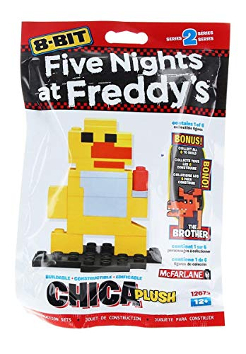 McFarlane Toys 12672-3 Five Nights at Freddy's 8-Bit Buildable Figures Building Kit