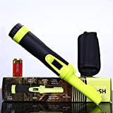 LCD Display Fully Waterproof Pinpoint Metal Detector Pinpointer - Fully Waterproof to 6-15 feet 360°Search Treasure Pinpointing Finder Probe with Belt Holster for Adults and Kids (Three Mode)
