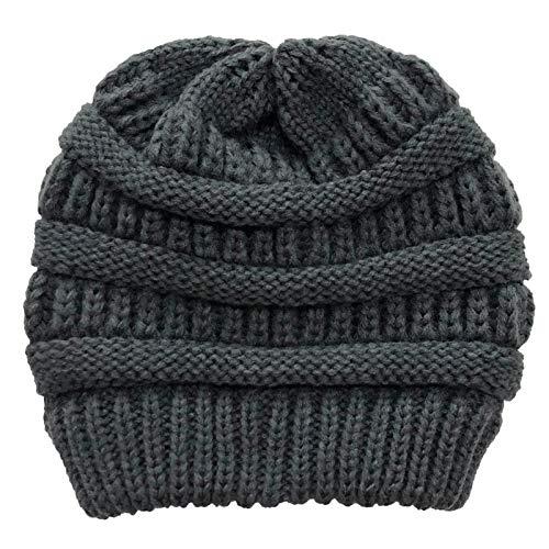 dontdo Warme Wollmütze für Damen, Winter, Outdoor, weich, warm, einfarbig,...