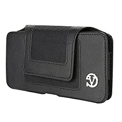 VanGoddy Holster Belt Clip PU Leather Wallet Pouch Case Cover (XXL, Nylon Black)