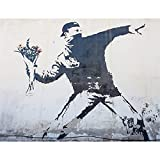 LWJPD Cuadro sobre Lienzo 40x60cm Sin Marco Banksy Street Graffiti Impresiones Y Póster Casa Pared Arte Impresión Hogar Diseño Lienzo Impresiones Bar