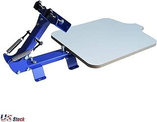 Calca 1 Color 1 Station T-Shirt Silk Screen Printing Machine DIY T-Shirt Press Printer - US Stock