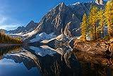Douwert Montañas y Lago en otoño Lienzo Pintura Cartel Arte de la Pared decoración de la habitación decoración del hogar sin Marco 40x50cm