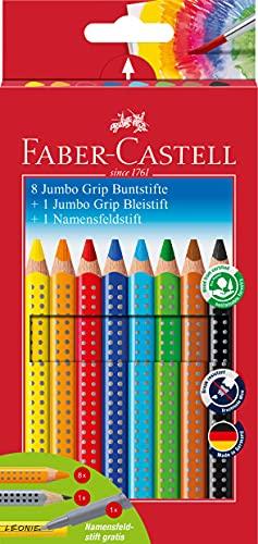 Faber Castell - 280921 - 12 crayons de couleur Jumbo Grip - Crayon de papier et crayon nominatif