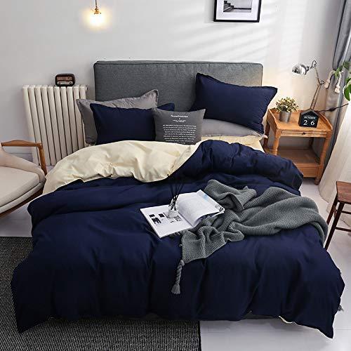 BH-JJSMGS Reine Farbe weiche Mikrofaser-Bettwäsche und Kissenbezug-Verblassen und Flecken-beständiger Bettbezug, Blauer Reis 200 * 230cm