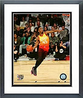 Donovan Mitchell Utah Jazz Slam Dunk Contest 2018 NBA All-Star Game Action Photo (Size: 12.5