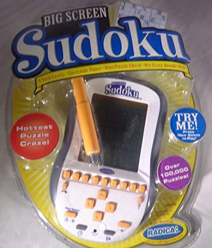 Radica Big Screen Sudoku Handheld Electronic Game (New)