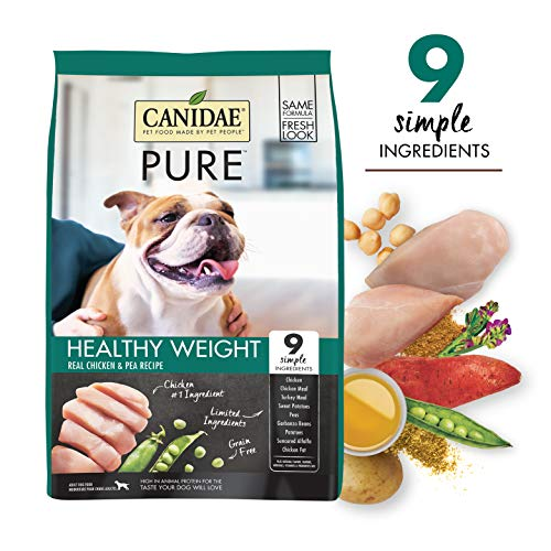 CANIDAE PURE Weight Management, Limited Ingredient Grain Free Premium Dry Dog Food, 24 lb,...