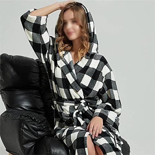 Zcjux Albornoz Pijamas Sueltos Con Capucha Para Hombres Y Mujeres Parejas De Invierno Casual Extralargo Extra Grande Ropa Para El Hogar (Color : Women's styles, Size : XL code)