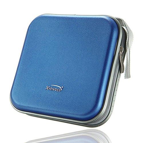 nalmatoionme Tragbare Wallet CD DVD Storage Bag Case (blau)