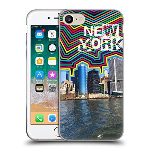 Head Case Designs Ufficiale Grace Illustration Skyline New York Cover in Morbido Gel Compatibile con Apple iPhone 7 / iPhone 8 / iPhone SE 2020