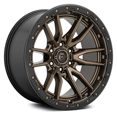 FUEL D681 Сustom Wheel - 17x9, 12 Offset, 6x139.7 Bolt Pattern, 106.1mm Hub - Bronze Center with Black Lip Rim