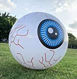 Halloween Inflatable Outdoor Eyeballs 1.3FT Diameter with LED,Blow Up Yard Decoration for Garden,Lawn,Party