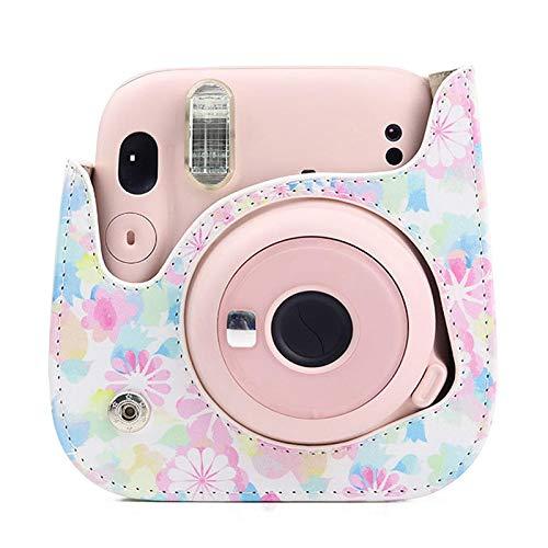 Sunnyushine Bolsa para cámara Fujifilm Mini11, funda para cámara de fotos retro...