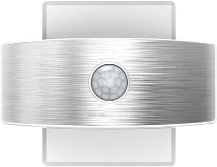 LED Luz Nocturna de Inducción, USB Recargable Lámpara de Noche con Sensor de Movimiento Detector
