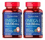 Omega-3 Fish Oil 1000 mg (300 mg Active Omega-3) - 2 Pack