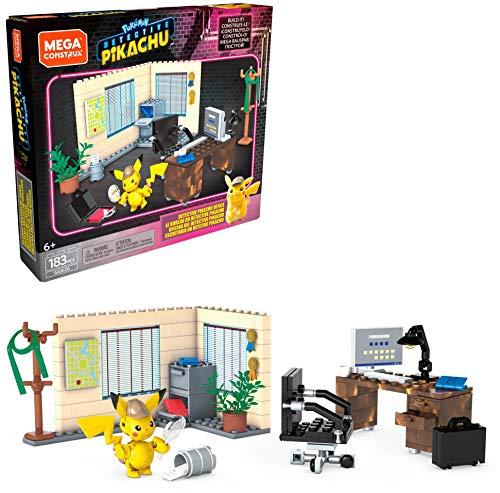 Mega Construx Pokemon Detective Pikachu, le Bureau d'Harry Goodman, Jeu de Construction, 183 pièces, pour Enfant dès 6 ans, GGK26 [Exclusif Amazon]